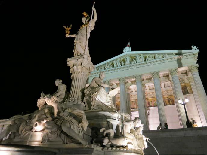 Austrian Parliament Building, athena statue