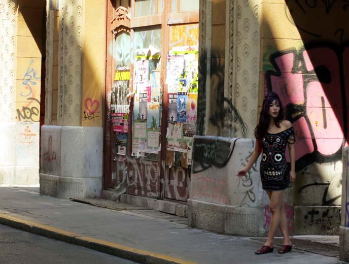 budapest doors, graffiti walls