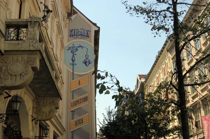 kiraly street, coolest district budapest