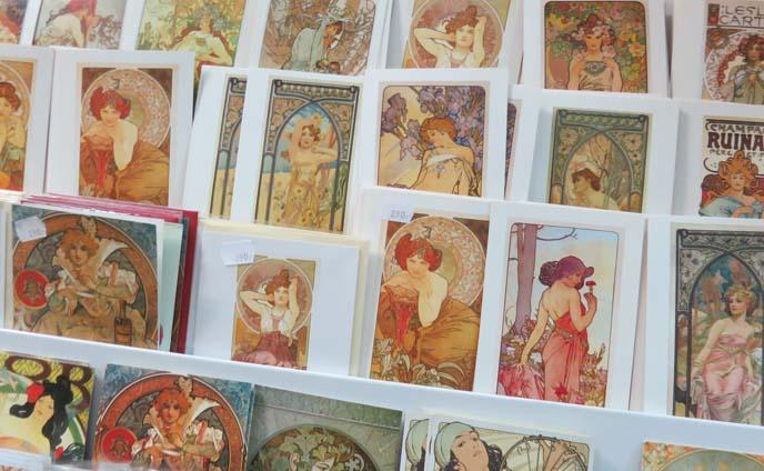 alphonse mucha postcards, art nouveau cards
