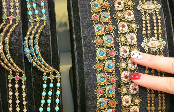 budapest jewerly store, Michal Negrin accessories, goth cross nail art