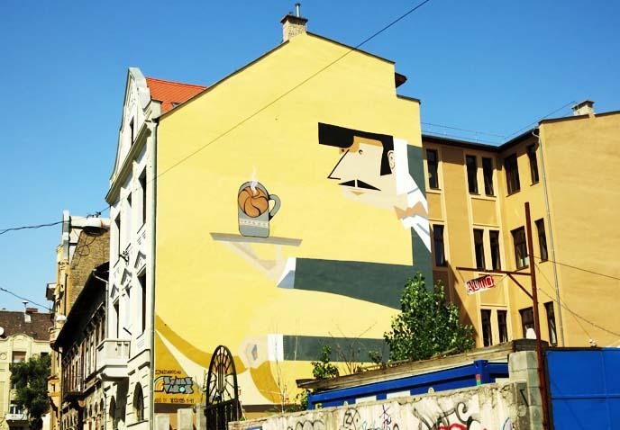 cool hungarian street art, murals
