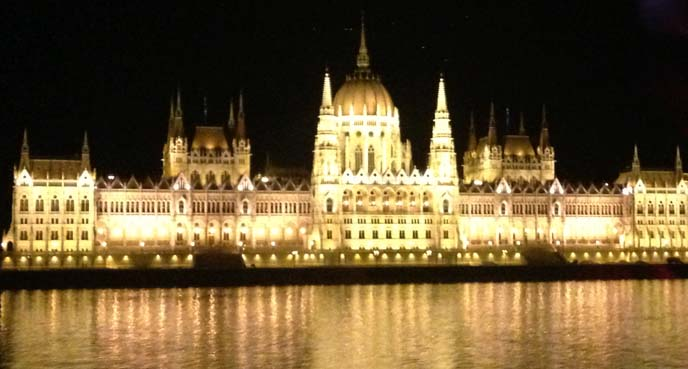 Hungarian Parliament Building, budapest gold lights