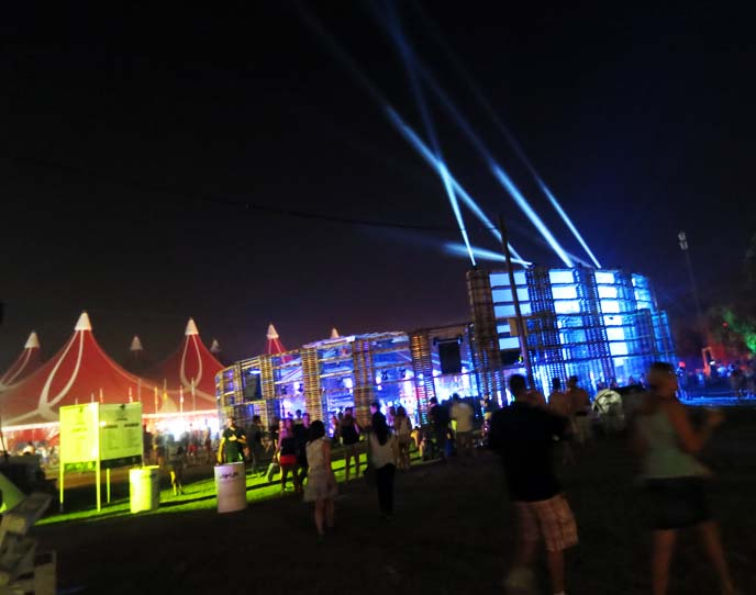 nightclub lights, outdoor raves