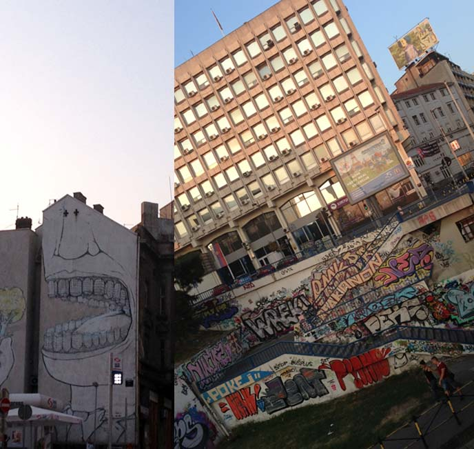 graffiti walls, buildings belgrade