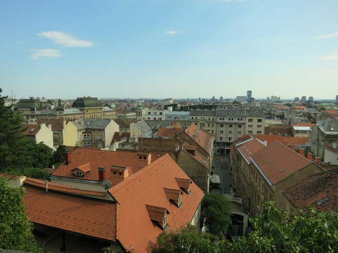 zagreb tram, funicular, city rooftops