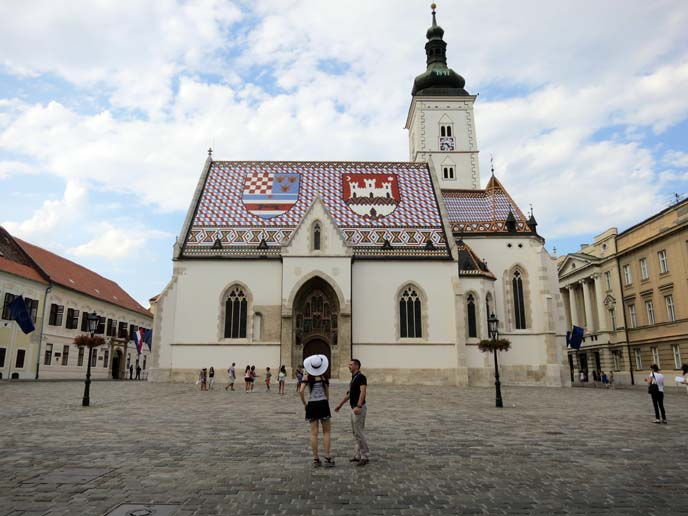 St. Mark's Church, colorful tile roofs zagreb