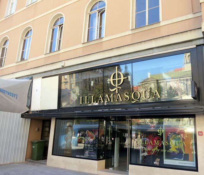Illamasqua store, makeup shop zagreb