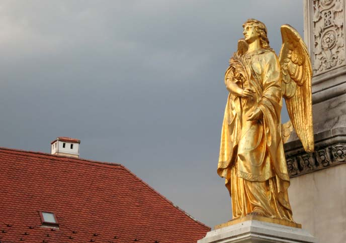 gold angel statue europe