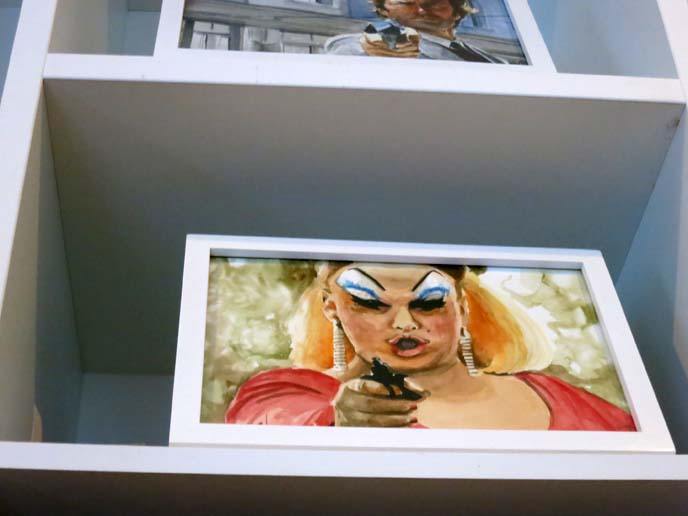 divine pink flamingos makeup, john waters painting