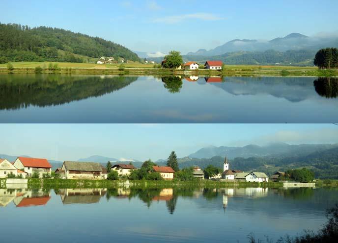 slovenia landscape, eastern european scenery lakes