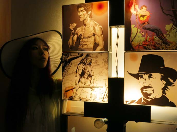 bruce lee lamp, art