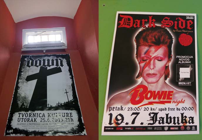 rockmark rock music shop zagreb, david bowie poster
