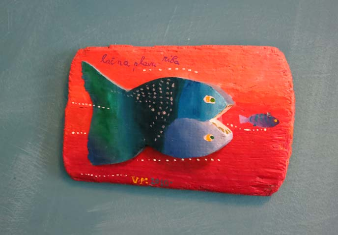 double headed fish, twee art
