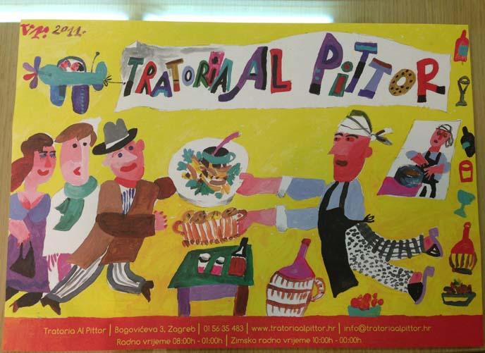 Tratoria Al Pitor, zagreb italian restaurant