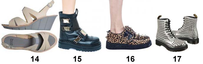 goth punk shoes, leopard creepers