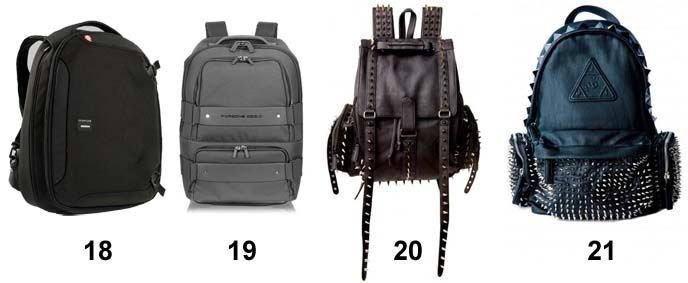 goth backpacks, studded black leather backpack