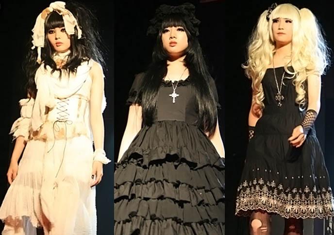 korean goth fashion, gothic lolita korea