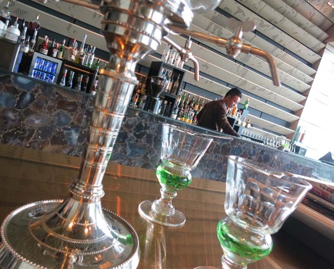 absinthe drip, glass cups