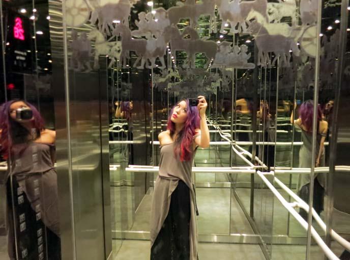 sofitel elevator art mirrors