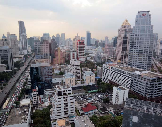 bangkok skyline, tall buildings