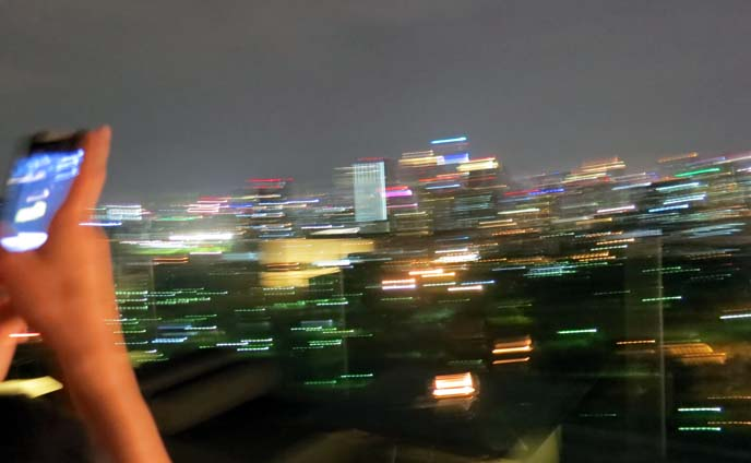 bangkok city view lights