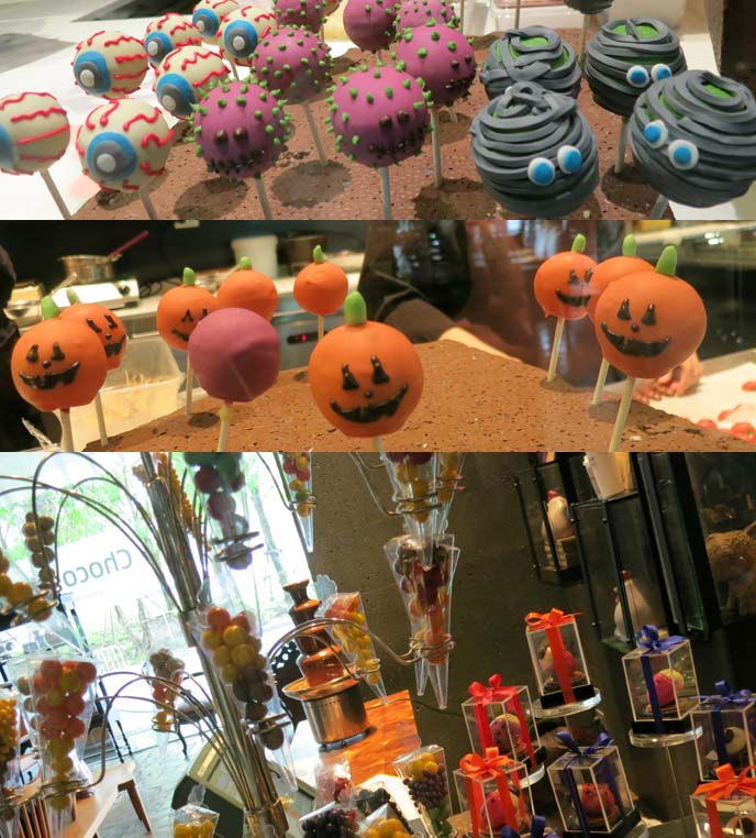 pumpkin chocolates, eyeball candies