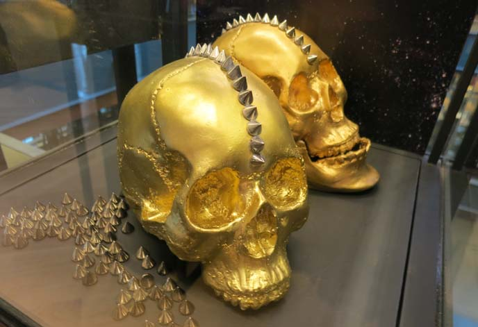 gold skull mohawk jewelry