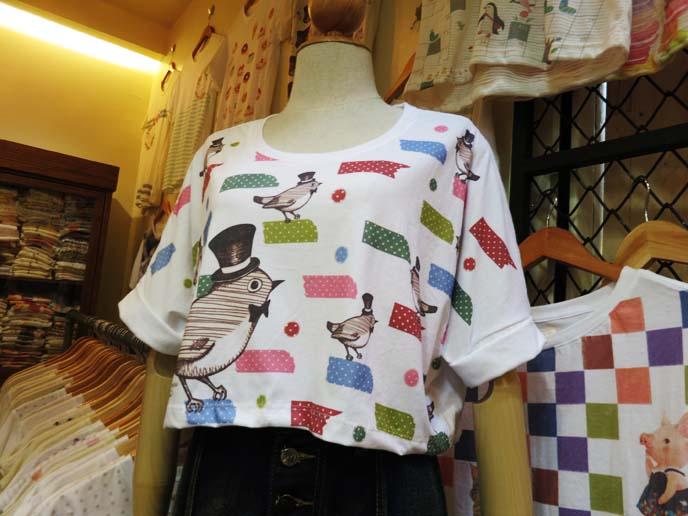 hipster bird tshirt