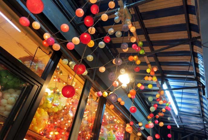 colorful ball lights