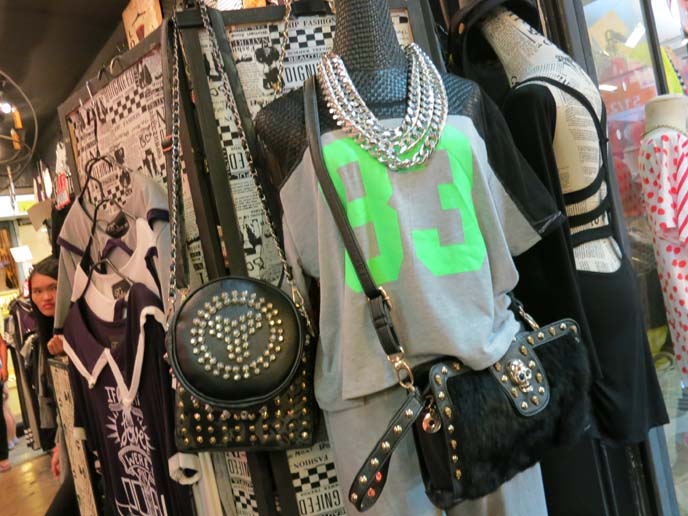 studded leather bags, heavy metal clothes