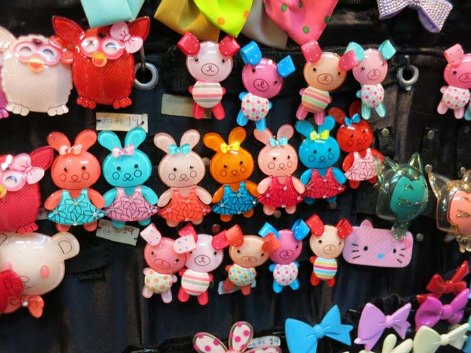 kawaii hair clips, cute pig pins