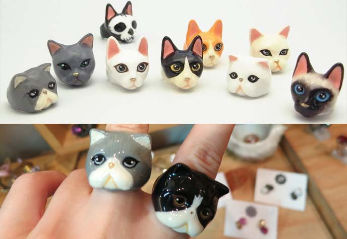 cat face rings, good after nine jewelry