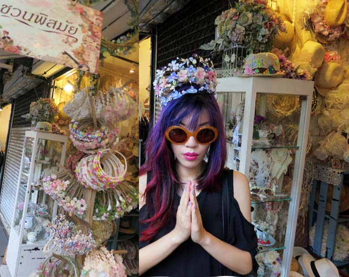 flower crowns, bangkok thailand