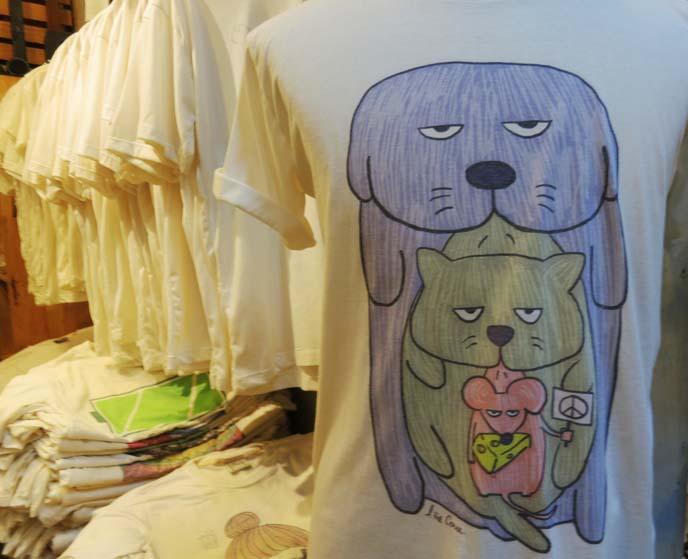 cat dog mouse tshirt, funny shirts