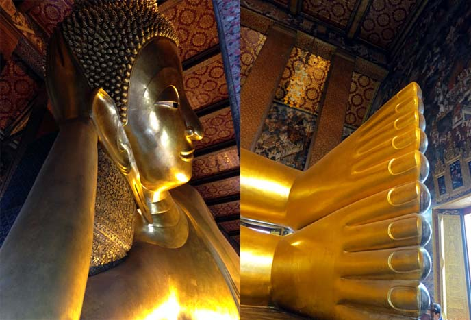 golden reclining buddha state