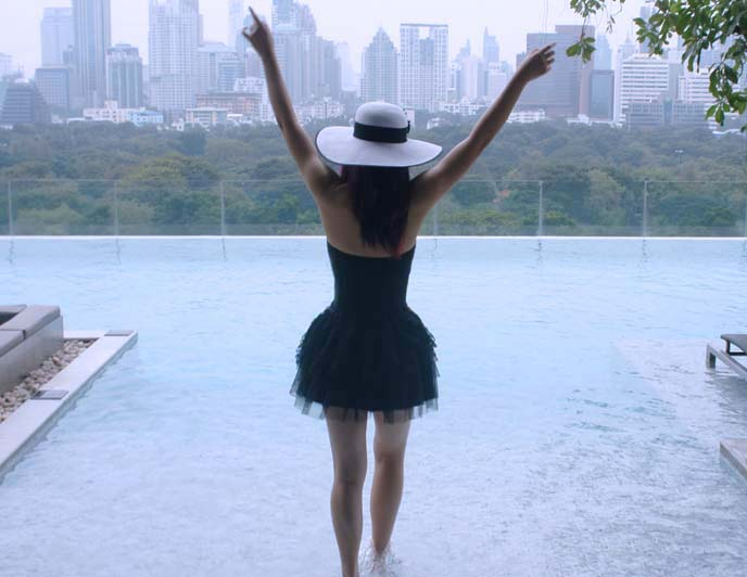infinity pool, bangkok sofitel so hotel
