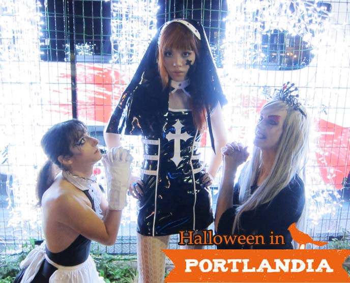 portland oregon halloween 2013, goth parties