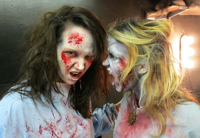 zombie girls, couples halloween costumes