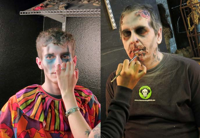 scary clown makeup, zombies face