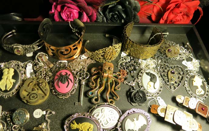 steampunk octopus jewelry, accessories