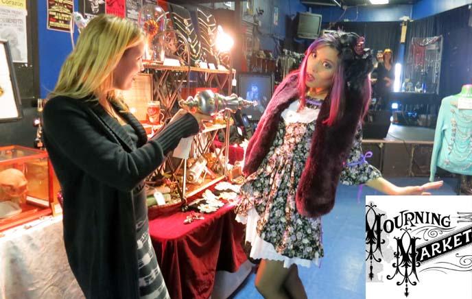 goth mourning market, ray gun