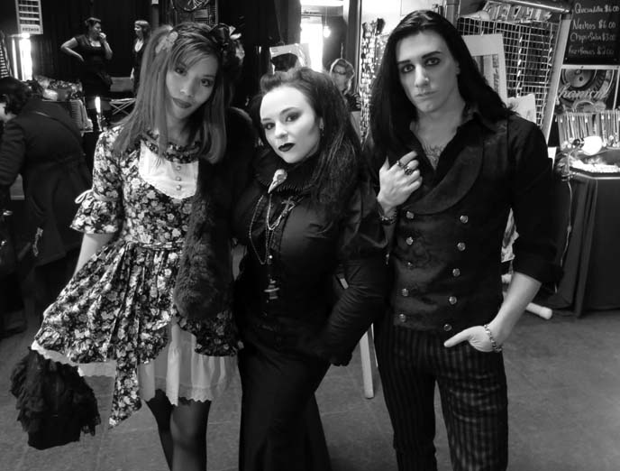 seattle goths, classic goth makeup fashion