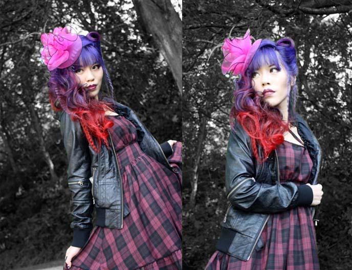 grunge plaid dress