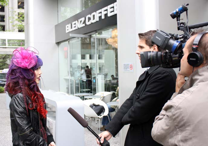 tv news interview, local reporter