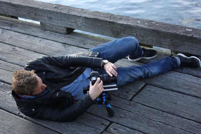 tv crew filming, cameraman