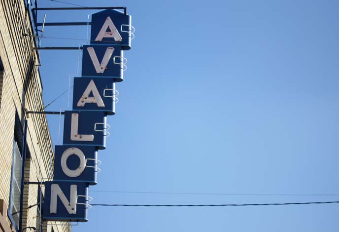 avalon theater sign portland