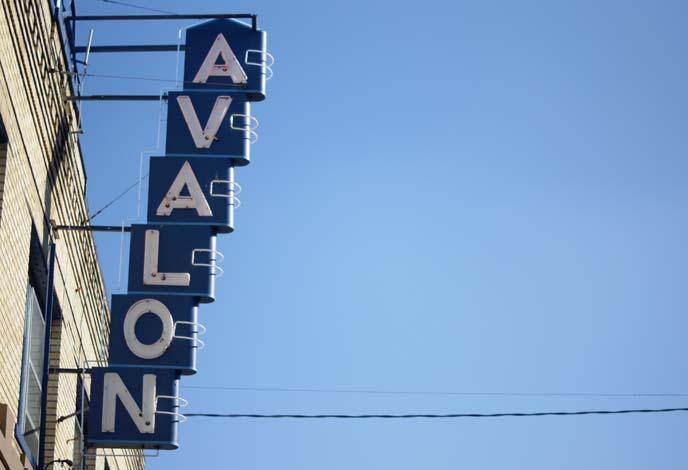avalon theater sign portland