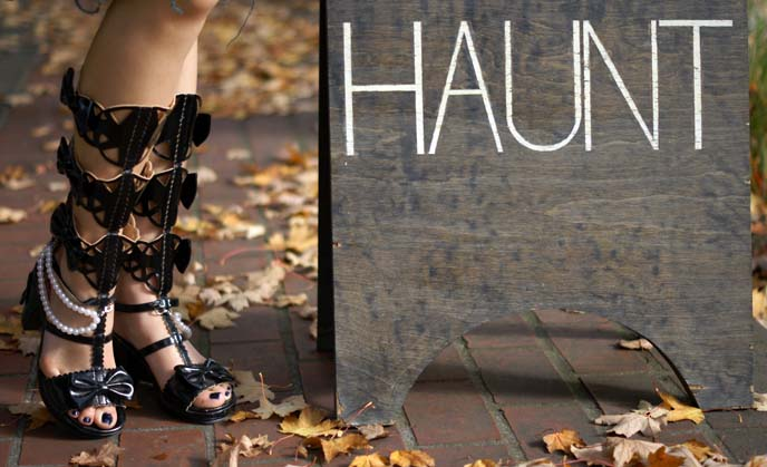 gothic lolita boots, laser cut out shoes