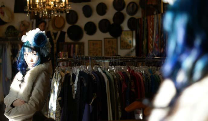 alan cherry vintage coat, hattie's portland secondhand